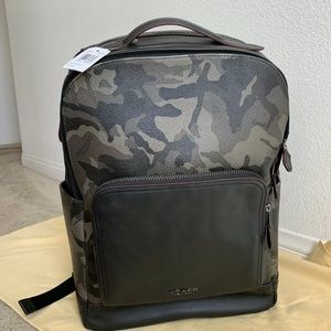 NWT COACH Graham Backpack with Camo Print F78726